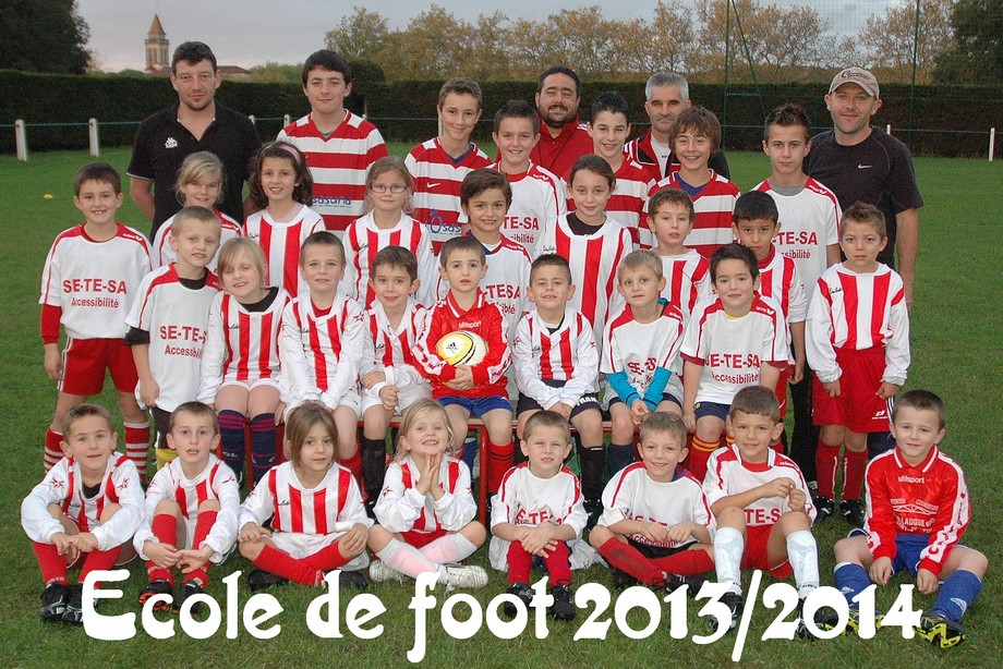 Photo école de foot Saint Justin 2013/14